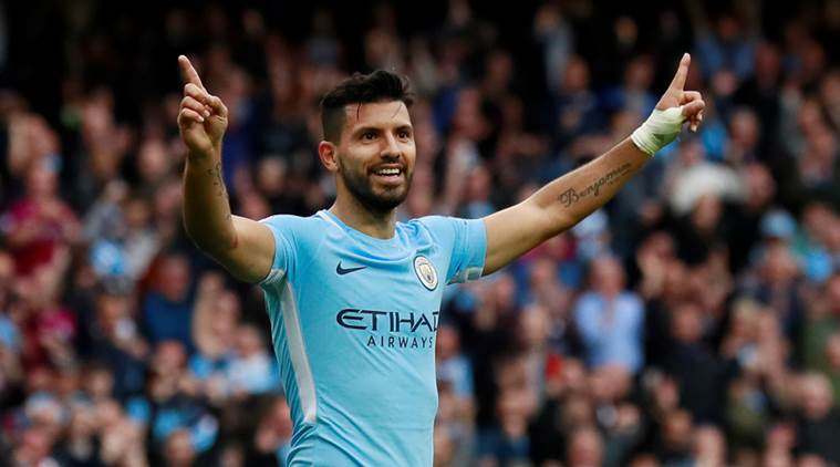 Image result for aguero man city 2017/18