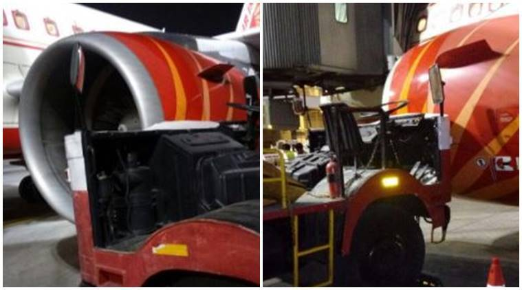 air india, air india flight hits truck, delhi airport air india accident, air india accident, india news, india news
