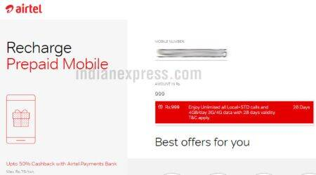 Airtel offering 4GB data per day at Rs 999: Here are the details
