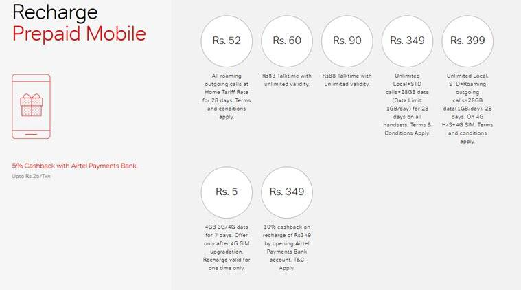 Airtel unlimited talktime offers