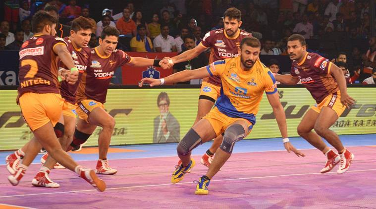 pro kabaddi 2017 tamil thalaivas register second victory beat up yoddha 34 33 the indian express. Black Bedroom Furniture Sets. Home Design Ideas