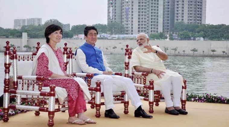 Shinzo Abe, Narendra Modi, Akie Abe, Oprah Winfrey, Samantha Cameron, Aishwarya Rai Bachchan, Naoi Campbell, Lady Gaga, sari, salwar kameez indian express, indian express news