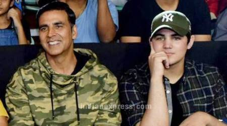Photos: Akshay Kumar bonds with son Aarav as he cheers for his Pro Kabaddi League team Bengal Warriors