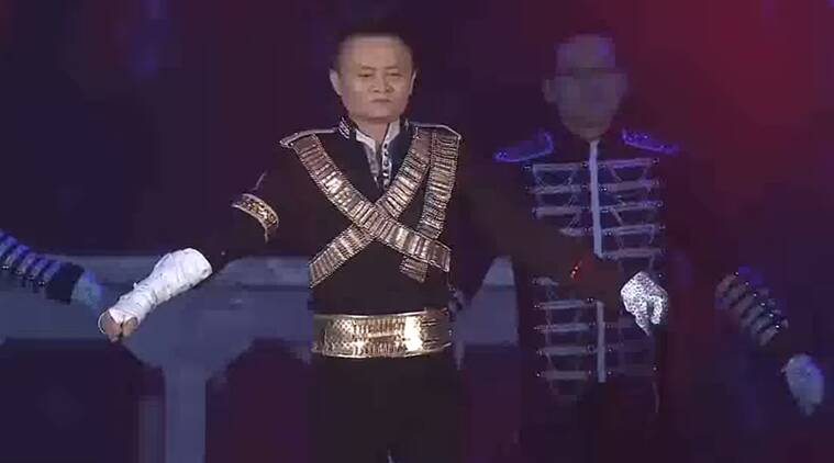 Alibaba, alibaba founder, alibaba founder dancing to michael jackson, alibaba founders party, indian express, indian express news