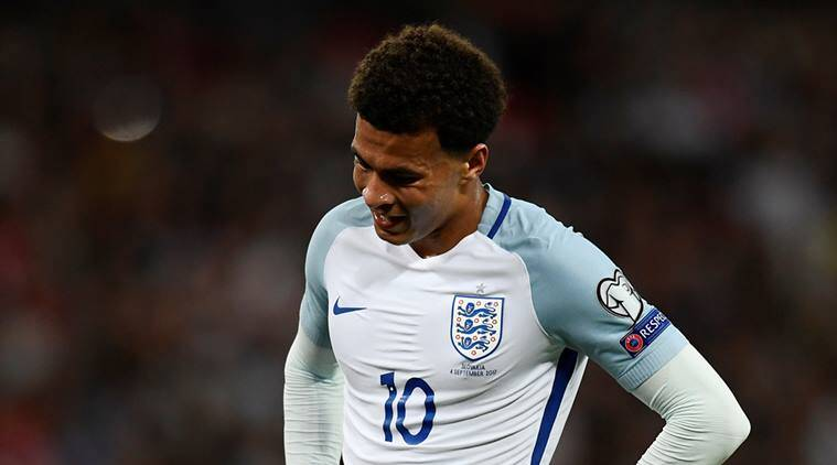 dele alli, england football team, england vs slovakia, 2018 world cup, football news, sports news, indian express