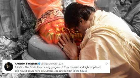 Mumbai Rains: Amitabh Bachchan thinks 'The God's they be angry again'
