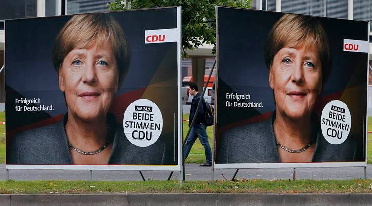 angela merkel alliance, german elections, angela merkel coalition, angela merkel won elections, after german elections, indian express news