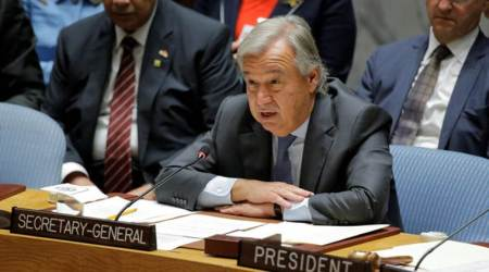 un chief on myanmar, rohingya muslims, rohingya refugees, myanmar, rohingya crisis, unsc, united nations security council, Antonio Guterres, un chief, world news, indian express