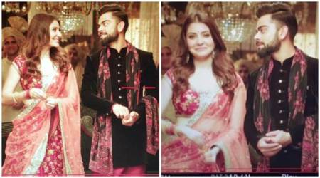Much-in-love couple Anushka Sharma and Virat Kohli shoot for an ad. See photos