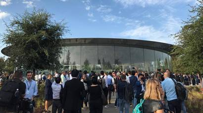 First look of Steve Jobs Theater at the new Apple Park campus