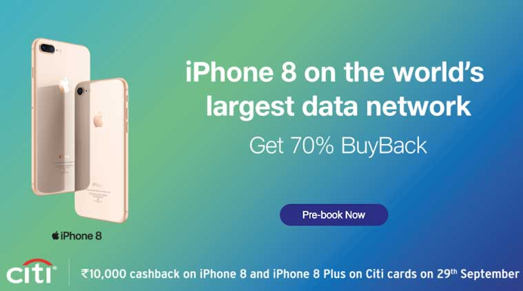 Apple iPhone 8, iPhone 8 India launch, iPhone 8 price in India, iPhone 8 Plus price in India, Apple iPhone 8 offers, iPhone cashback, iPhone 8 cashback offer, iPhone 8 Plus buyback offer, Apple iPhone 8 Plus buyback offer, Apple iPhone 8 sale