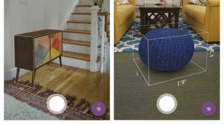 Augmented reality, Lowe's, Lowe's AR app, digitial image of furnishings, The Mine, online catalog, iPhone tap measurement, AR apps, Lowe's Measured, Wayfair, online retailers, Wayfair app AR feature
