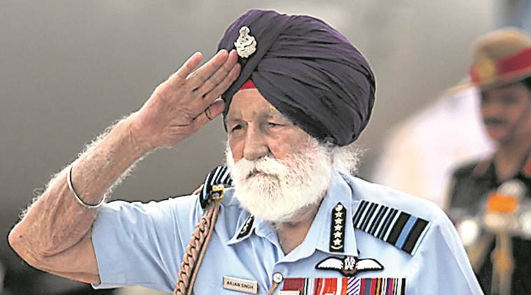 arjan singh, arjan singh death, iaf marshal dies, iaf marshal arjan singh, arjan singh iaf,Marshal of the Indian Air Force, Amarinder Singh , V P Singh Badnore,Parkash Singh Badal