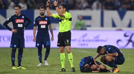 Serie A, Napoli, Arkadiusz Milik, Arkadiusz Milik knee injury, football news, sports news, indian express