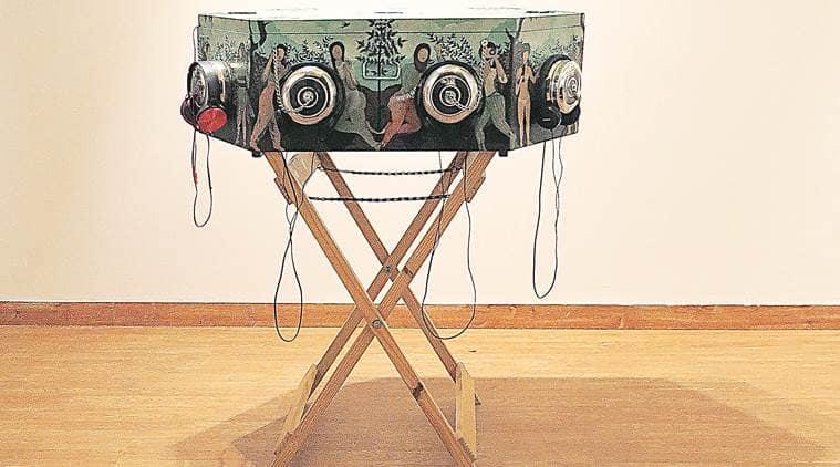 shashwat srivastava, art exhibition delhi, delhi art konsult gallery, hauz khas village, hkv art gallery, dastarkhwan monologue, art installations, indian express
