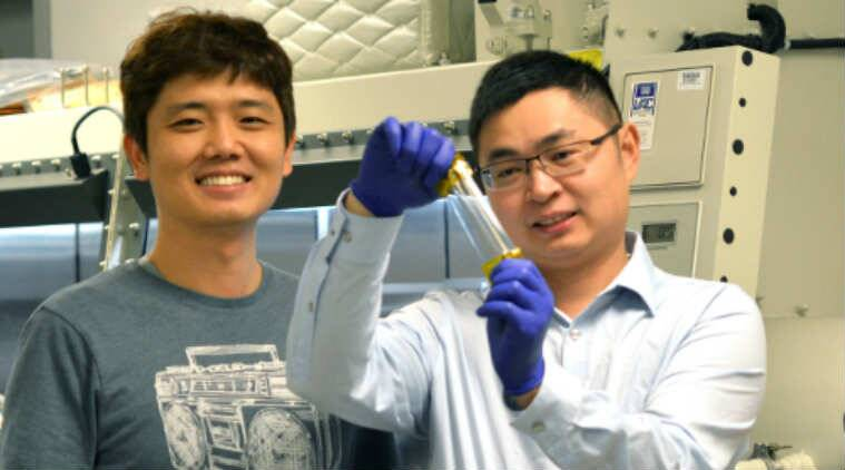 Artificial skin, stretchable electronics, University of Houston, composite semi-conductor, silicon-based polymer, nanowires, electronic skin, robot hand, wearable electronics, nanofibrils