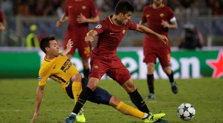 as roma vs atletico madrid, uefa champions league, football news, indian express