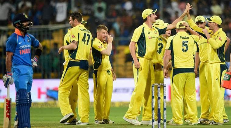 India vs Australia, india vs australia 4th odi, Ind vs Aus, india vs australia result, india vs australia scorecard, David Warner, Aaron Finch, MS Dhoni, india vs australia series, Australia tour of india 2017, Virat Kohli, Cricket news, Indian Express