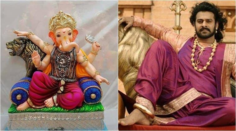 ganesh chaturthi, ganesh visarjan, prabhas, prabhas baahubali, baahubali ganesh chaturthi, baahubali ganesha idols, indian express, indian express news