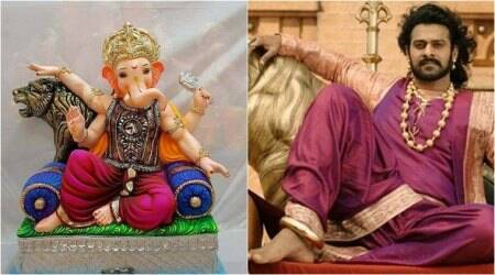 Prabhas fever grips Ganesh Chaturthi with idols modelled after Baahubali star; Seephotos