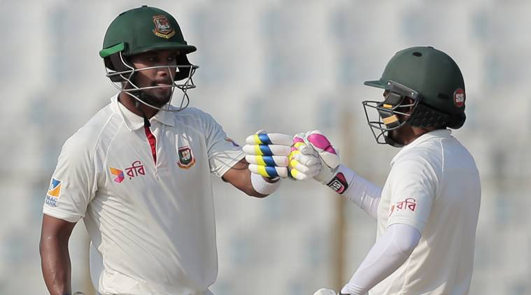 Bangladesh vs Australia, Mushfiqur Rahim, Sabbir Rahman, Nathan Lyon, sports news, cricket, Indian Express