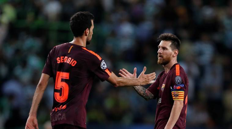 barcelona, sporting cp, sporting vs barcelona, champions league, ucl, football news, sports news, indian express