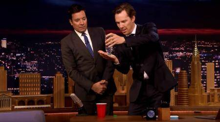 VIDEO: Benedict Cumberbatch shows Jimmy Fallon a super-cool magic trick