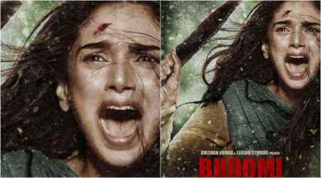 Bhoomi new poster: Aditi Rao Hydari might be a hurt daughter, but not shattered. Seephoto