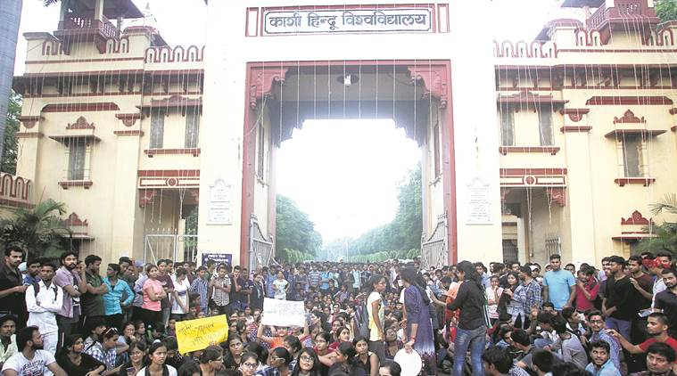 bhu, banaras hindu university, bhu students molestation, bhu protest, indian express