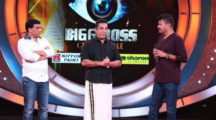 Shankar - Kamal Hassan's Indian 2 Announcement in Bigg Boss Tamil Finale