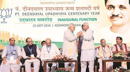 Deendayal Upadhyaya, BJP, Deendayal Upadhyaya birthday celebrations, rss, jan sangh, narendra modi, indian express news