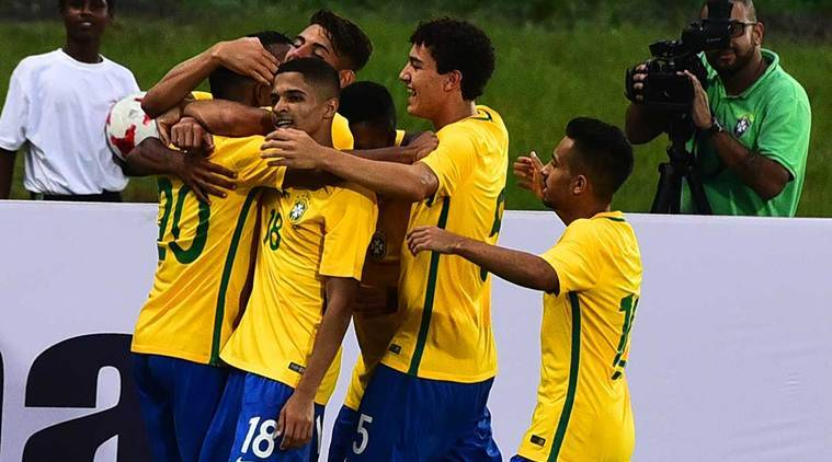 FIFA U-17 World Cup, Brazil U-17 team, Brazil vs New Zealand, Football news, Indian Express