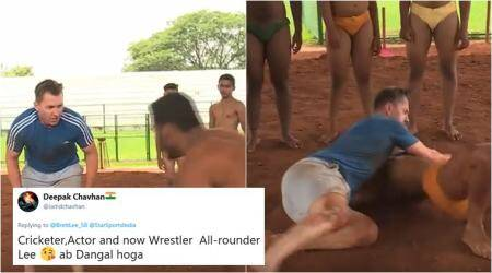 VIDEO: Brett Lee took part in a 'dangal' match and Indian fans are going crazy!