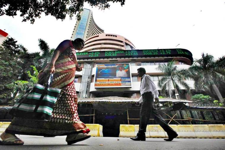 sensex today, bse, nse nifty, stock market, bse morning trade, domestic buying, business news, indian express