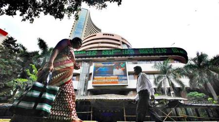 Sensex recovers 140 points on positive GDP data