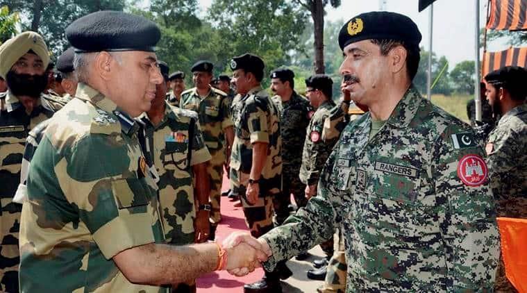 BSF, Pakistan Rangers, BSF Rangers meet, Border meet, India Pakistan, Indo-Pak border, India news, Indian Express