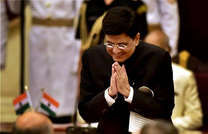 Piyush Goyal gets Railways, Prabhu shifted to Commerce and Industry