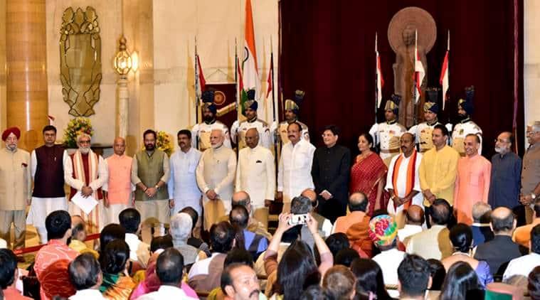 Cabinet reshuffle, Narendra Modi Cabinet, Defence ministry, Piyush Goyal, Modi new Cabinet, Cabinet expansion,Hardeep Puri, Kannanthanam Alphons, Railway ministry, India news, Indian Express
