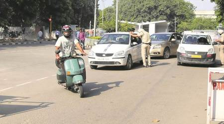 Only four-wheelers under scanner, two-wheelers have a free run on campus