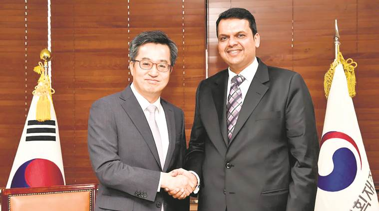Devendra Fadnavis, Kim Dong-yeon , South Korea and devendra fadnavis, Devendra Fadnavis South Korea visit, Maharashtra FDI flow, South Korea news, India news, National news, latest news