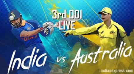 India vs Australia Live Score 3rd ODI in Indore: India break fluent Australia stand as Aaron Finch departs