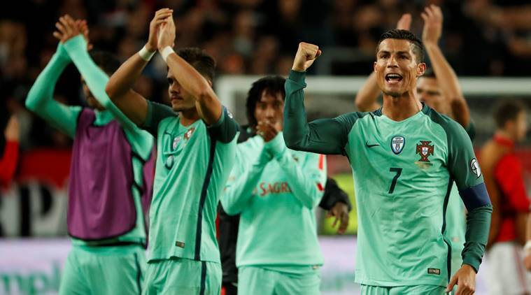 Portugal, Hungary, World Cup qualifier, Andre Silva, Cristiano Ronaldo, Football news, Football, Indian Express