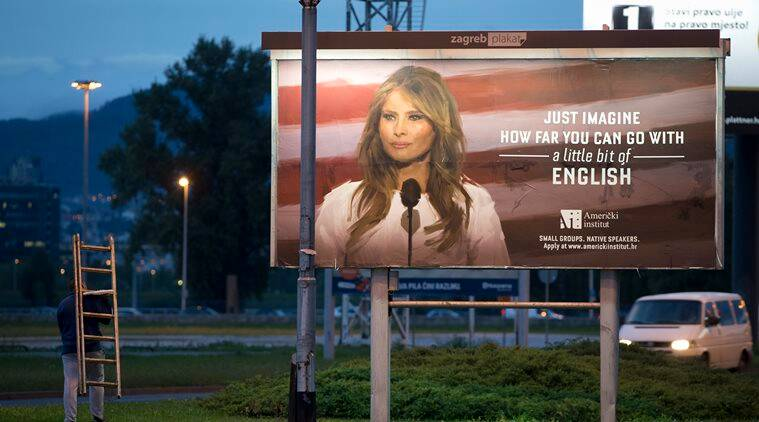 Image result for How Melania Trump forced a Croatia language school to remove its billboards