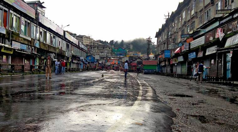 several shops reopen in darjeeling hills as shutdown continues for