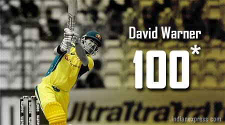 David Warner becomes first Australia player to score century in 100th ODI