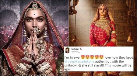Deepika Padukone's Padmavati unibrow has stirred up a storm on Twitter