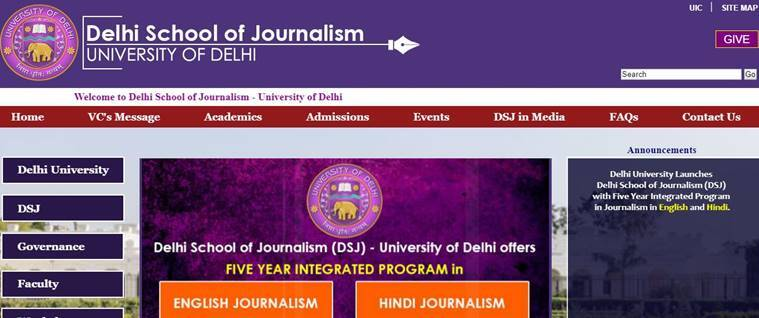 delhi school of journalism, dsj.du.ac.in, dsj entrance, journalism schools india, delhi journalism, education news, indian express, study journalism