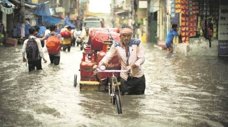 Delhi: City records 59 mm rain, waterlogging in several areas brings traffic to a halt