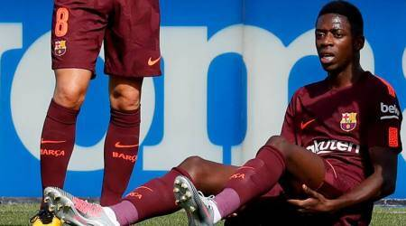 Barcelona manager Ernesto Valverde blames Ousmane Dembele inexperience for injury