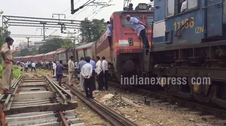 Shaktipunj Express derailed in UP, Rajdhani went off tracks in Delhi